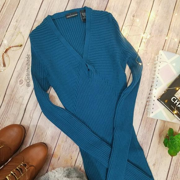 Moda International Dresses & Skirts - Victoria's Secret Teal Sweater Dress